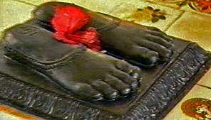 amrit-exuding feet